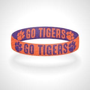 Reversible Clemson Go Tigers Bracelet Wristband